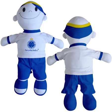 Boneco Torcedor Cruzeiro 48 cm - Torcida Baby