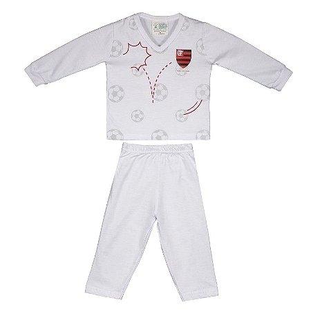 Pijama Longo Infantil Flamengo- Torcida Baby