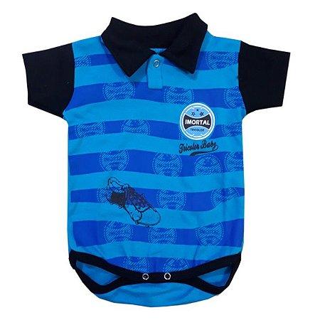 Body Bebê Polo Imortal Tricolor