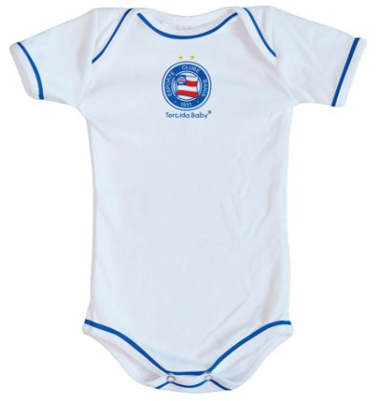 Body Bahia Oficial Branco - Torcida Baby