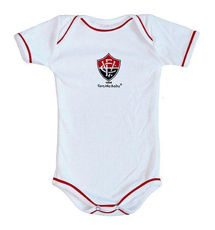 Body Bebê Vitória Oficial Branco - Torcida Baby
