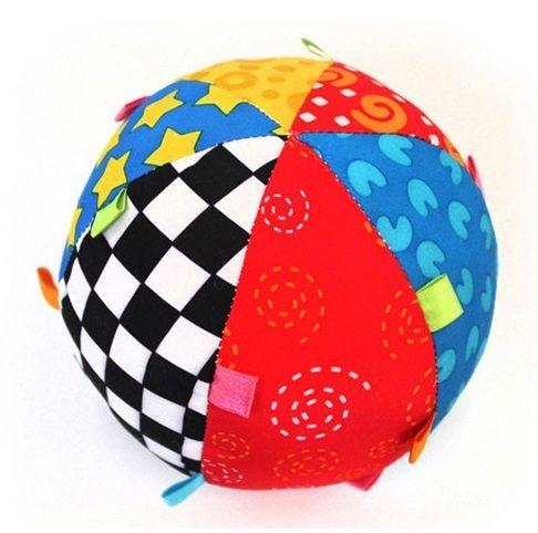 Bola beb com chocalho cia beb produtos infantis for Piscina de bolas para bebes