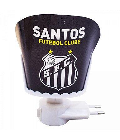 Mini Luminária Refletiva Santos Preta