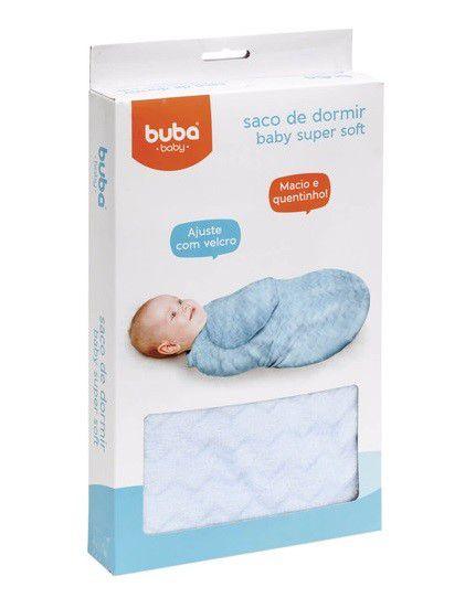 Saco de Dormir Baby Macio Azul Buba