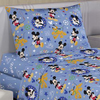 Jogo de Cama Infantil Disney Mickey Happy 3 Peças Santista