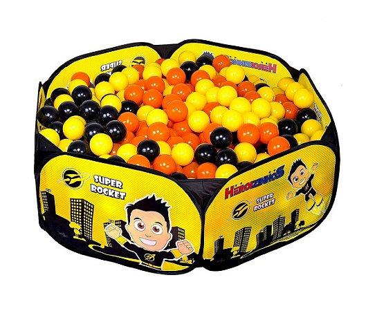 Piscina de Bolinhas Heroizinhos Amarela Unik Toys