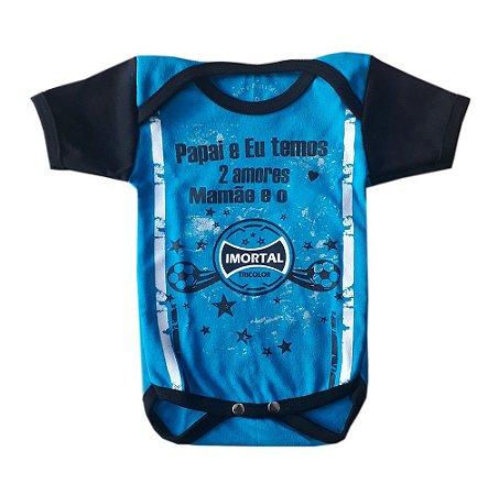 "Body Bebê Imortal Tricolor Frase ""2 Amores"""