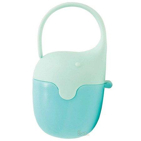 Porta Chupeta Case Azul Elefantinho Buba