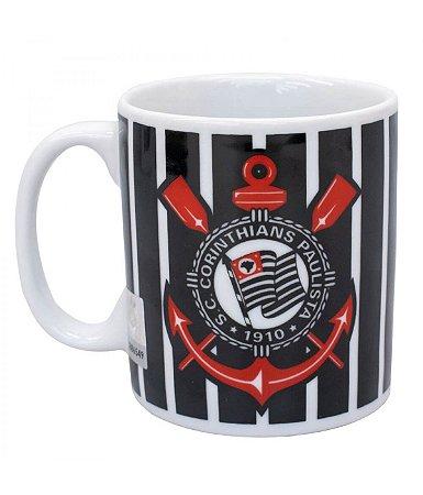 Caneca Porcelana Corinthians 320ml Oficial