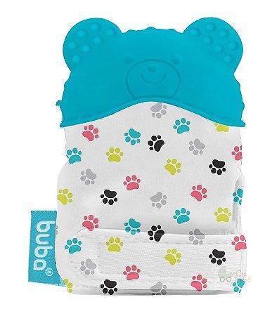 Luvinha Mordedor Bebê Silicone Urso Azul Buba