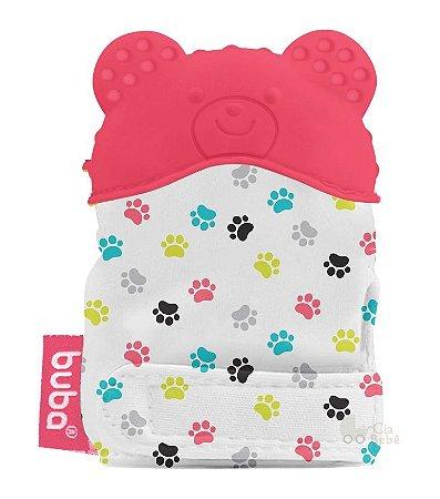 Luvinha Mordedor Bebê Silicone Urso Rosa Buba