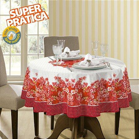Toalha de Mesa Estampada Leila Vermelho - Lepper