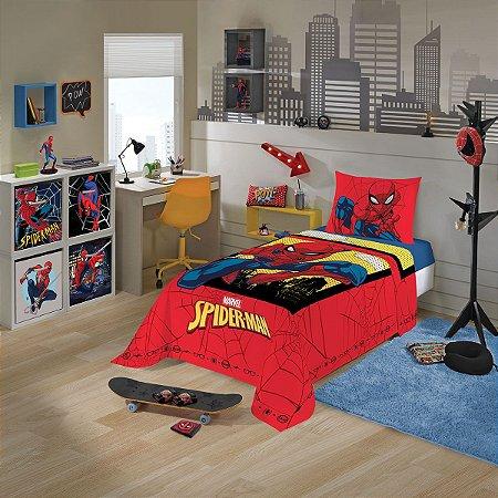 Jogo de Cama Infantil Spider Man 2 Peças 1,50 x 2,10 m - Lepper