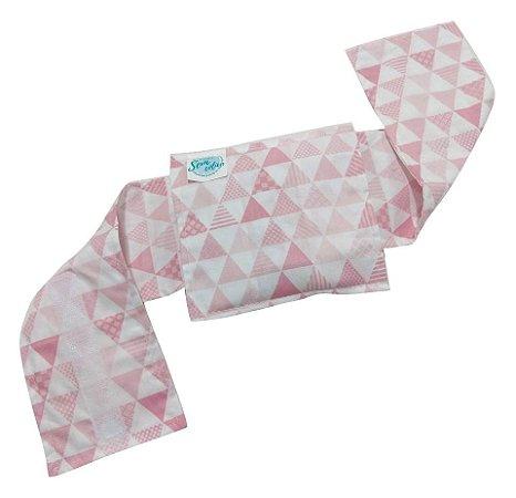 Bolsa Térmica Bebê Sem Cólica Com Cinta Triângulo Rosa