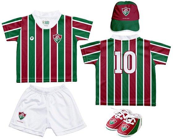 Kit Bebê Fluminense 4 Peças Oficial - Torcida Baby