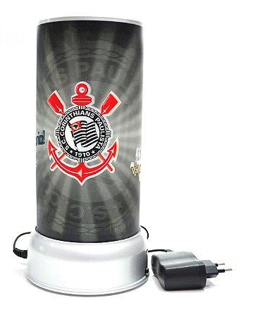 Luminária Corinthians Giratória 3D - Oficial