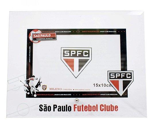 Porta Retrato São Paulo Branco De Vidro Para 1 Foto 10X15cm