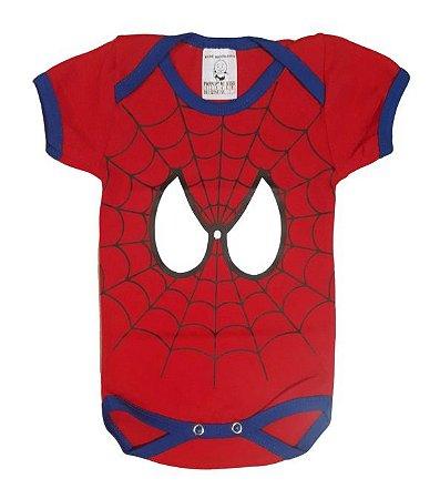 Body Bebê Homem Aranha Manga Curta