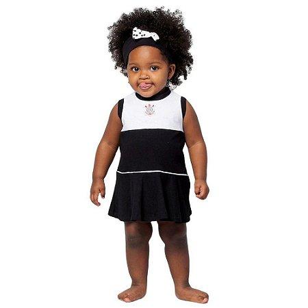 Vestido Corinthians Bebê Infantil Regata Oficial