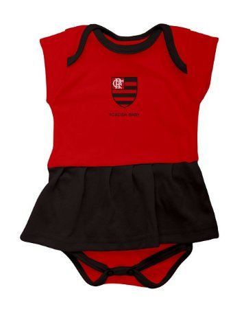 Body Vestido Flamengo Infantil - Torcida Baby