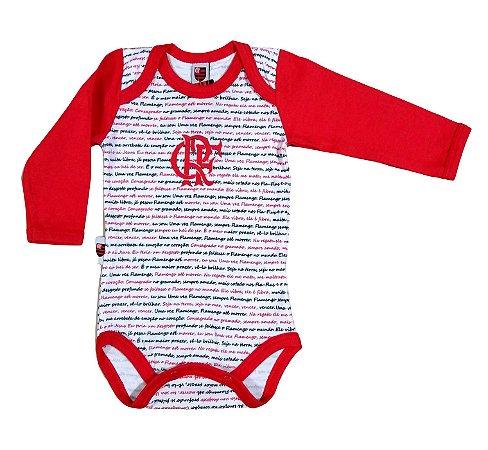Body Flamengo Hino Manga Longa Oficial
