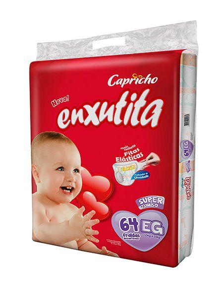 Fralda Bebê Capricho Enxutita Tam EG Com 64 Un
