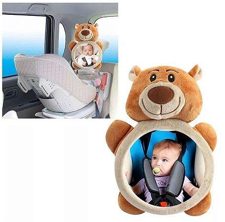 Espelho Retrovisor Baby Para Carro Ursinho