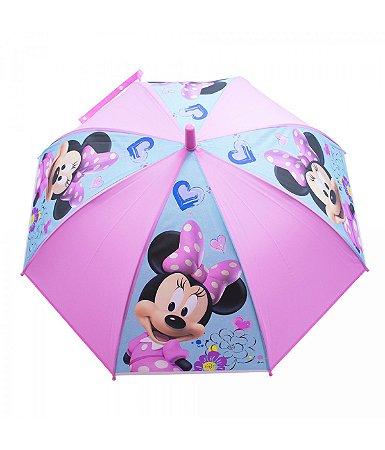 Guarda Chuva Infantil Rosa Minnie  - Disney