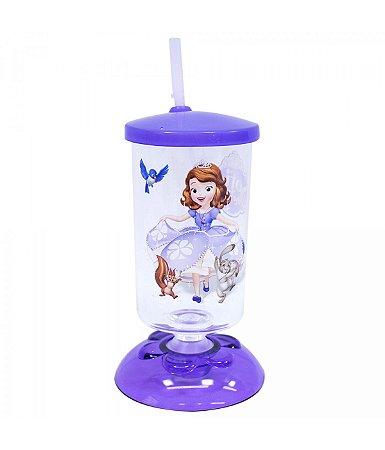 Copo Com Canudo Articulado Princesinha Sofia 250ml - Disney