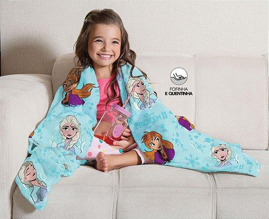 Mantinha Fleece de Sofa Infantil Frozen Lepper