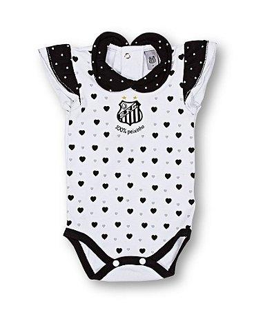 Body Bebê Santos Corações Pólo Oficial