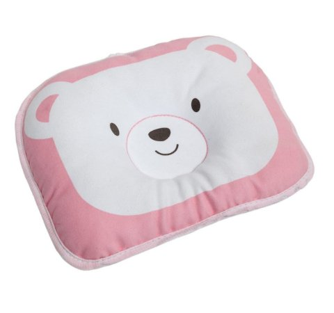 Travesseiro Para Bebê Urso Rosa Buba