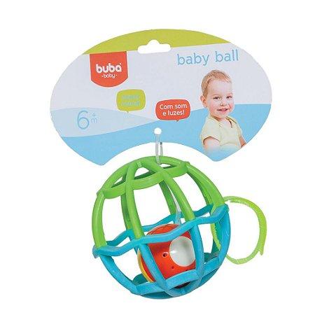 Bola Baby Ball Azul Com Luz e Som Buba