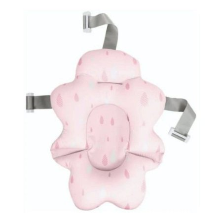 Almofada Para Banho Bebê Com Fivela Ajustável Rosa Buba
