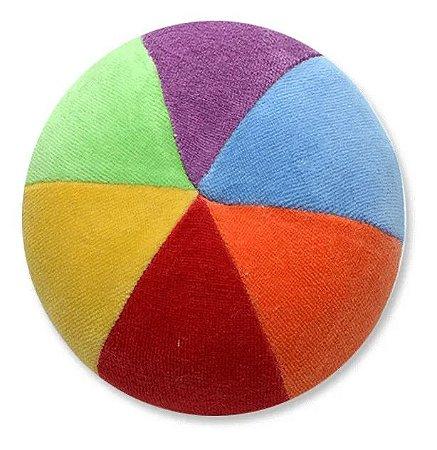 Bola De Pelucia Colorida 11cm Com Chocalho Zip Toys