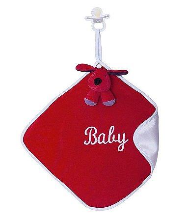 Naninha Bebê Cetim Cachorrinho Greg Vermelho Zip