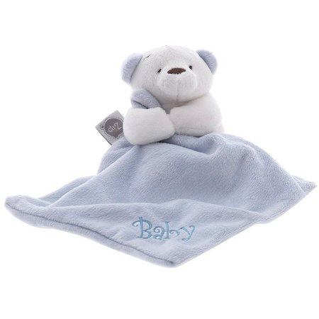Mini Naninha Bebê Ursinho Azul Zip