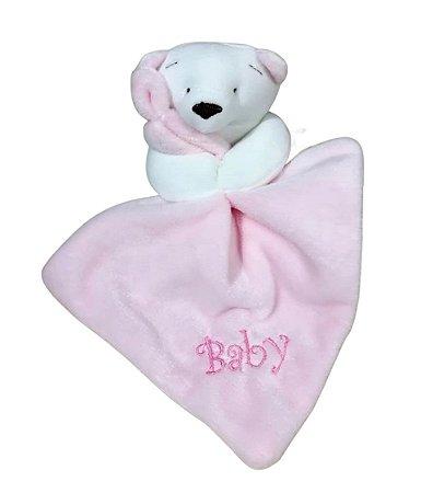 Mini Naninha Bebê Ursinha Rosa Zip