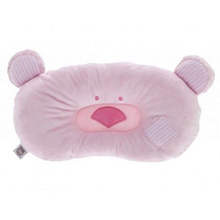 Travesseiro Bebê Ursinho Rosa Zip