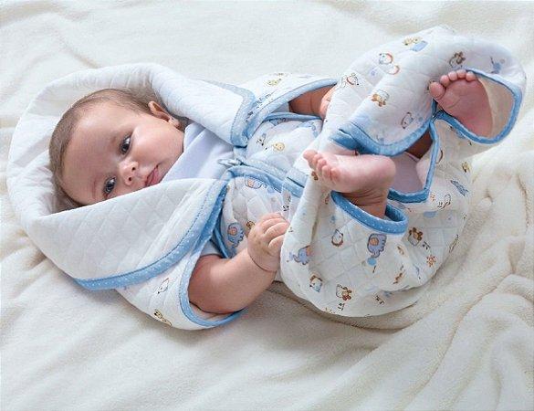 Baby Sac Azul Algodão Jolitex 80cm x 90cm