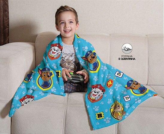 Mantinha Fleece de Sofa Infantil Patrulha Canina Lepper