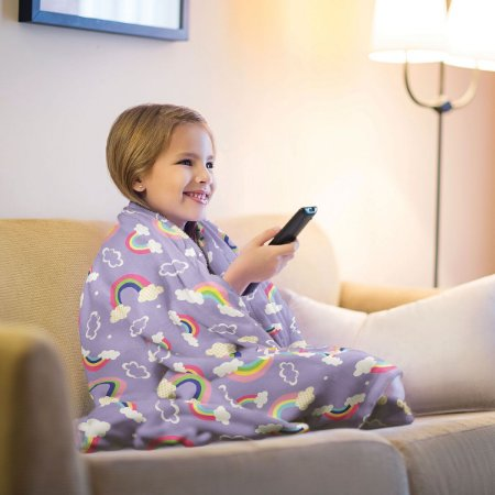 Mantinha Fleece de Sofa Infantil Arco Iris Lepper