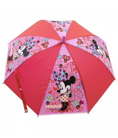 Guarda Chuva Infantil Vermelho Minnie  - Disney