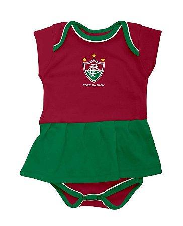 Body Bebê Vestido Fluminense - Torcida Baby