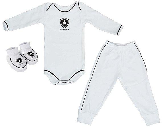Kit Bebê Botafogo 3 Peças Longo Torcida Baby