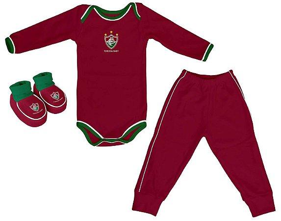 Kit Bebê Fluminense 3 Peças Longo - Torcida Baby