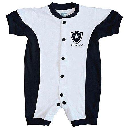 Macacão Bebê Botafogo Branco Manga Curta - Torcida Baby