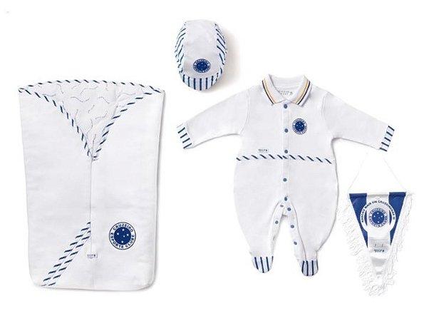 Kit Maternidade Cruzeiro com Saco de Dormir Masculino Oficial
