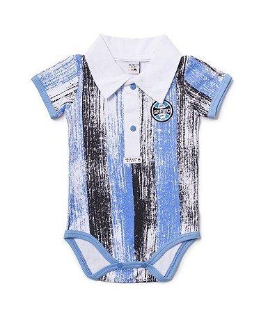 Body Bebê Grêmio Polo Listras Oficial