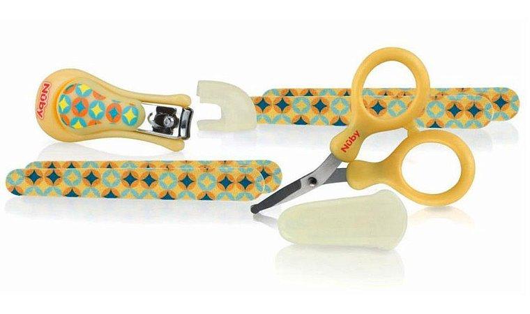 Kit Manicure Infantil Com 6 Pçs Amarelo Nuby